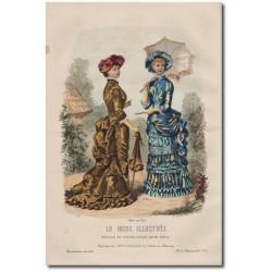 Gravure de La Mode Illustrée 1882 21