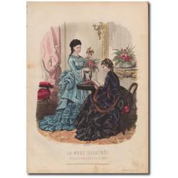 Gravure de La Mode Illustrée 1873 06