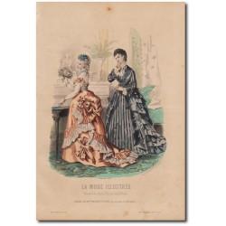 Gravure de La Mode Illustrée 1873 20