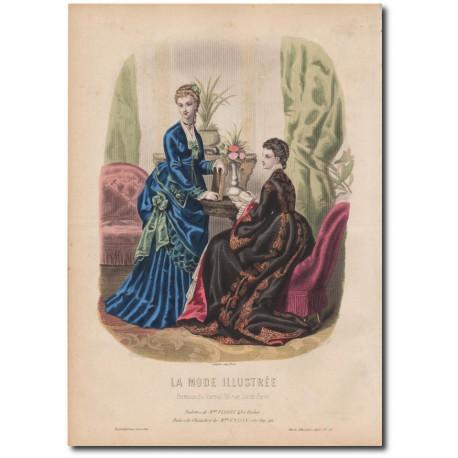 Gravure de La Mode Illustrée 1873 21