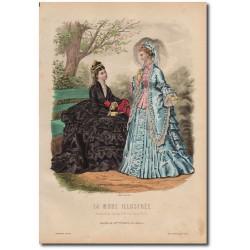Gravure de La Mode Illustrée 1873 27