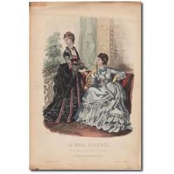 Gravure de La Mode Illustrée 1873 34