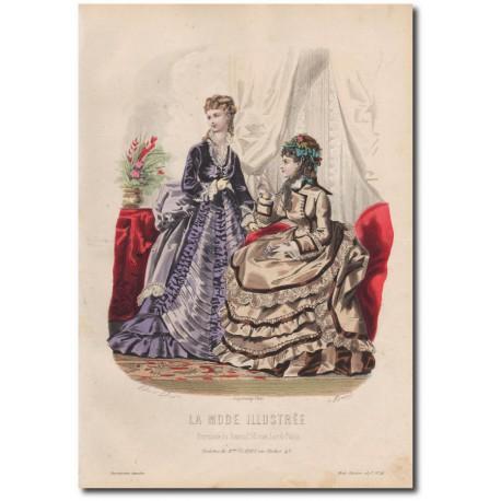 Gravure de La Mode Illustrée 1873 41