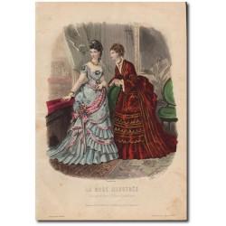 Gravure de La Mode Illustrée 1873 52