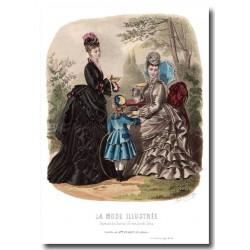 Gravure La Mode Illustrée 1874 23