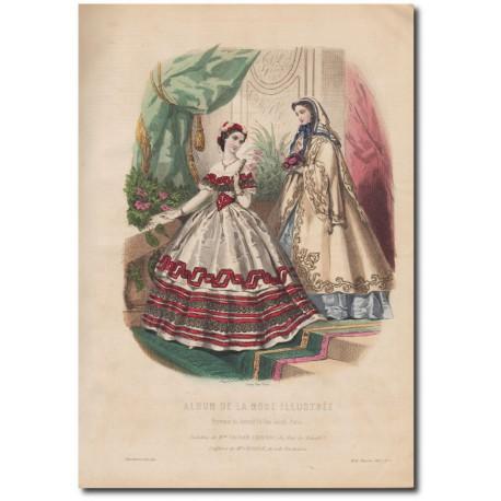 Gravure de La Mode Illustrée 1862 01
