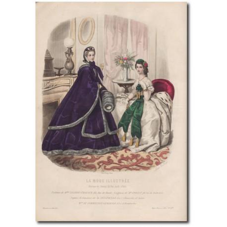 Gravure de La Mode Illustrée 1862 02b