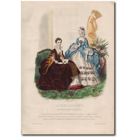 Gravure de La Mode Illustrée 1862 05