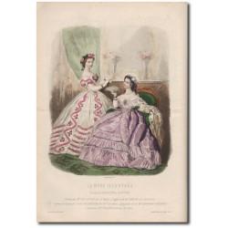 Gravure de La Mode Illustrée 1862 08