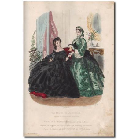 Gravure de La Mode Illustrée 1862 15