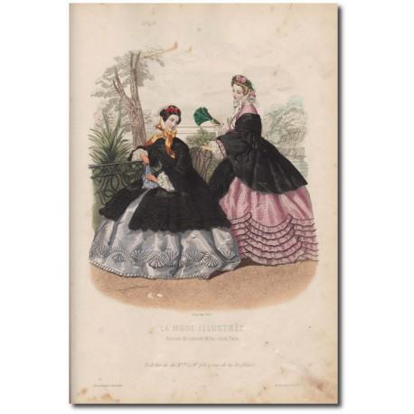 Gravure de La Mode Illustrée 1862 20