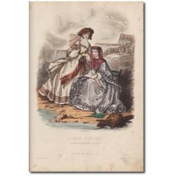 Gravure de La Mode Illustrée 1862 21