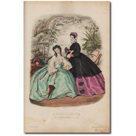 Gravure de La Mode Illustrée 1862 22
