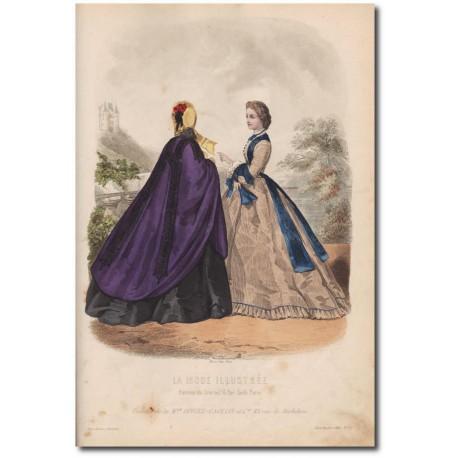 Gravure de La Mode Illustrée 1862 23