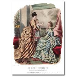Gravure La Mode Illustrée 1874 31
