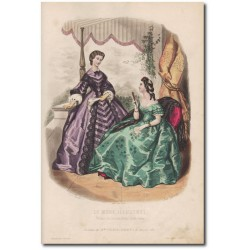 Gravure de La Mode Illustrée 1862 25