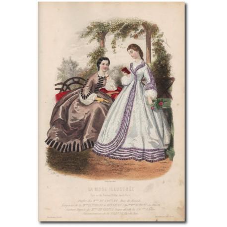 Gravure de La Mode Illustrée 1862 26