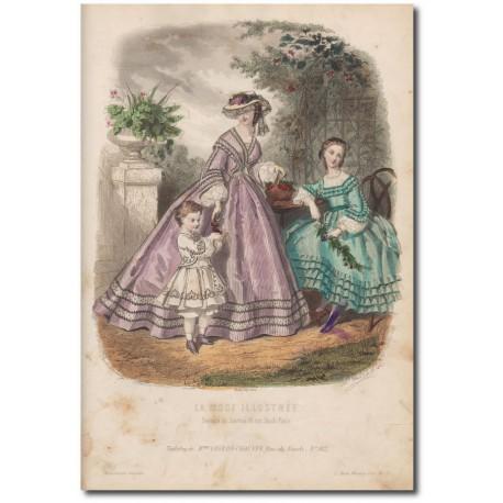 Gravure de La Mode Illustrée 1862 29