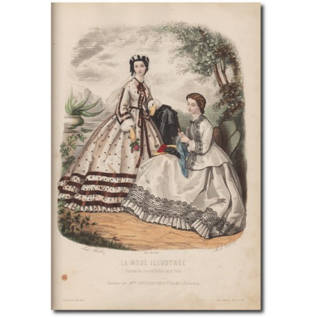 Gravure de La Mode Illustrée 1862 31