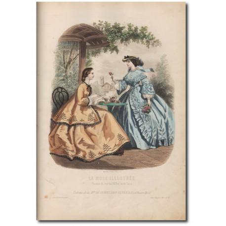 Gravure de La Mode Illustrée 1862 33