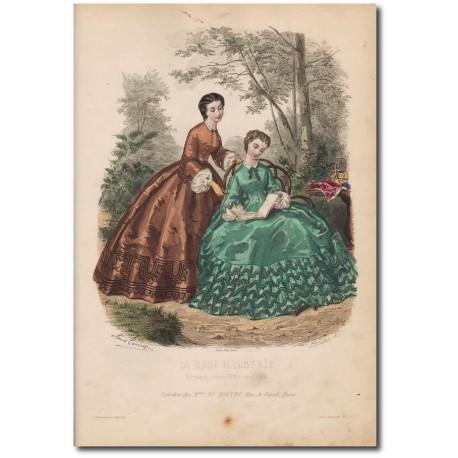 Gravure de La Mode Illustrée 1862 37