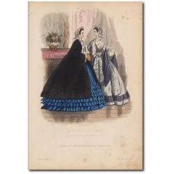 Gravure de La Mode Illustrée 1862 38