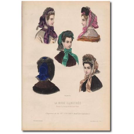 Gravure de La Mode Illustrée 1862 46