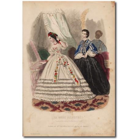 Gravure de La Mode Illustrée 1862 50