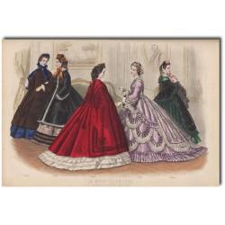 Gravure de La Mode Illustrée 1862 43