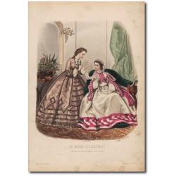 Gravure de La Mode Illustrée 1862 51
