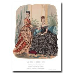 Gravure La Mode Illustrée 1874 49