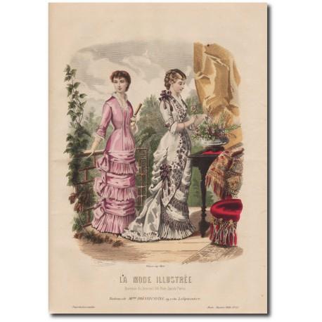 Gravure de La Mode Illustrée 1880 45