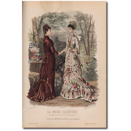 Gravure de La Mode Illustrée 1878 26