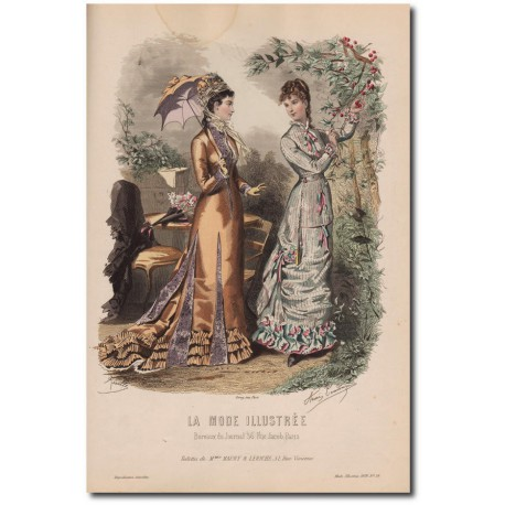 Gravure de La Mode Illustrée 1878 28