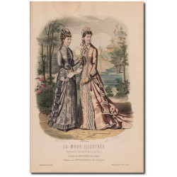 Gravure de La Mode Illustrée 1878 29