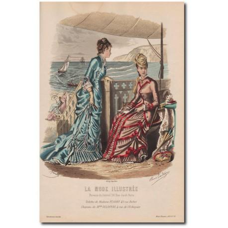 Gravure de La Mode Illustrée 1878 32