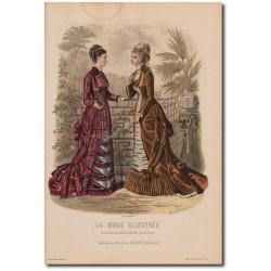 Gravure de La Mode Illustrée 1878 34