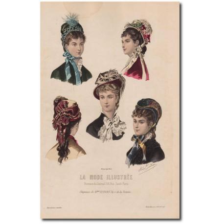Gravure de La Mode Illustrée 1878 40