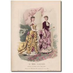 Gravure de La Mode Illustrée 1883 01