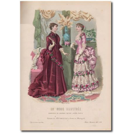 Gravure de La Mode Illustrée 1883 04