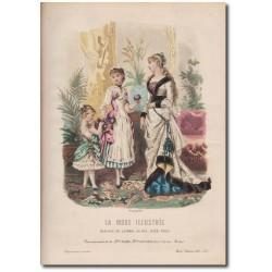 Gravure de La Mode Illustrée 1883 05