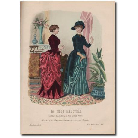 Gravure de La Mode Illustrée 1883 06