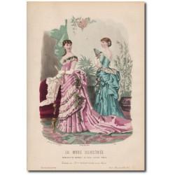 Gravure de La Mode Illustrée 1883 07