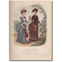 Gravure de La Mode Illustrée 1883 10
