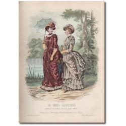 Gravure de La Mode Illustrée 1883 12