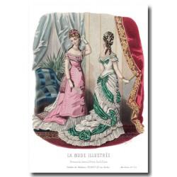 Gravure La Mode Illustrée 1877 04