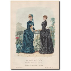 Gravure de La Mode Illustrée 1883 13