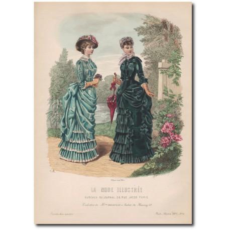 Gravure de La Mode Illustrée 1883 16
