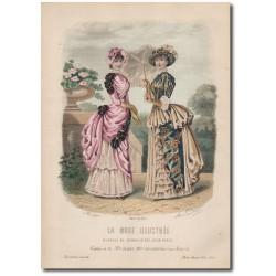 Gravure de La Mode Illustrée 1883 18