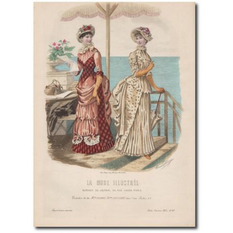 Gravure de La Mode Illustrée 1883 20